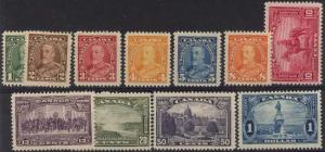 Canada - 1935 KGV & Pictorials Set of 11 mint #217-227