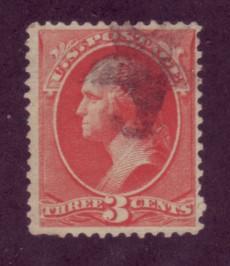 214 Used,  3c,  Washington,   scv: $62.50