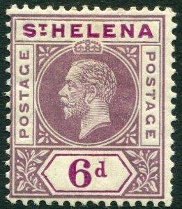 ST HELENA-1913 6d Dull & Deep Purple Sg 86 MOUNTED MINT V33832