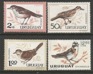 URUGUAY 695-98 MOG BIRDS SOME THINS  Z3-244
