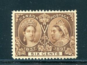 Canada #55  Mint XF  lightly hinged -   Lakeshore Philatelics