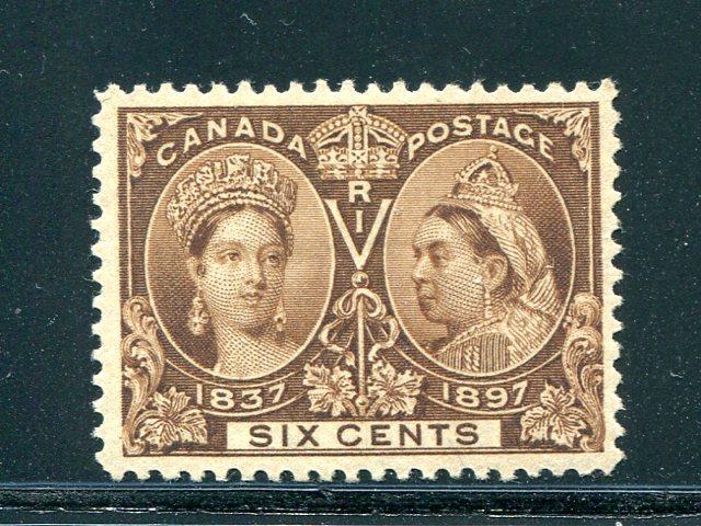 Canada #55  Mint XF  lightly hinged -   Lakeshore Philatelics