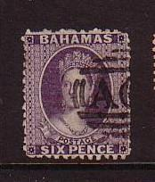 Bahamas Sc 14 1863 6d lilac Victoria stamp used