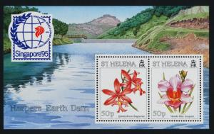 St Helena 660 MNH Orchids, Flowers