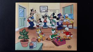 Disney - Uganda 1990. - Health and safety ** MNH Block/2