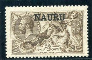 Nauru 1916 KGV 2s 6d chocolate-brown (Bradbury) MLH. SG 24.