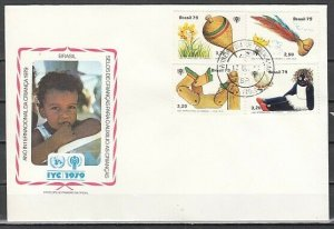 Brazil, Scott cat. 1643-1646. Int`l Year of the Child. First day cover.