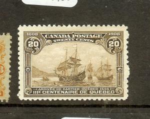 CANADA  (P1603B) QUEBEC 20C SG195  VF MOG
