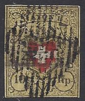 Switzerland #8 used, Federal Administration issued 1850