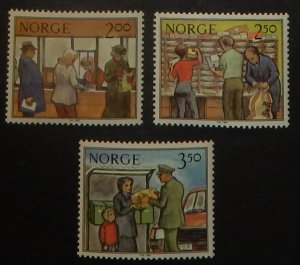 Norway 833-35. 1984 Postal Services, NH