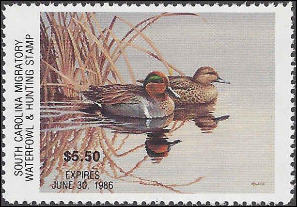SC5 Mint,OG,NH... State Duck Stamp.. SCV $60.00