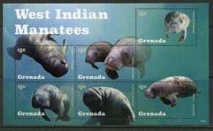 Grenada MNH S/S West Indian Manatees 2015