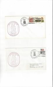 US Navy USS Callaghan DD 994  Two Covers