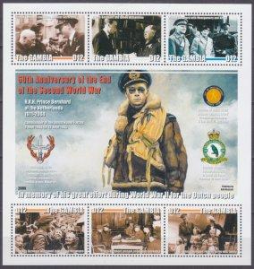 2005 Gambia 5531-5536KL World War II Prince Bernhard