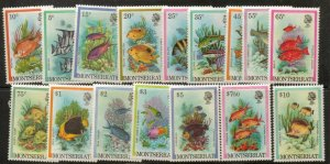 MONTSERRAT SG490/505 1981 FISH SET MNH