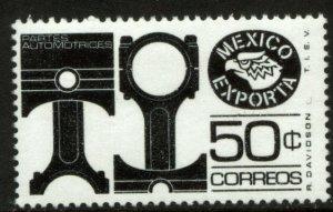 MEXICO Exporta 1112b, 50¢ Pistons/parts Unwmk Fluor Paper 6. MINT, NH. VF.