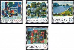 (CMA) Faroe Islands Scott #397-400 MNH Complete Set