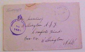 LIBYA  AUSTRALIA TOBRUK AUS FPO 34 (1945) CENSOR TO AUSTRALIA