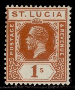 ST. LUCIA GV SG103, 1s orange, M MINT.
