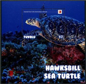 2020 Tuvalu Hawksbill Sea Turtles SS (Scott NA) MNH
