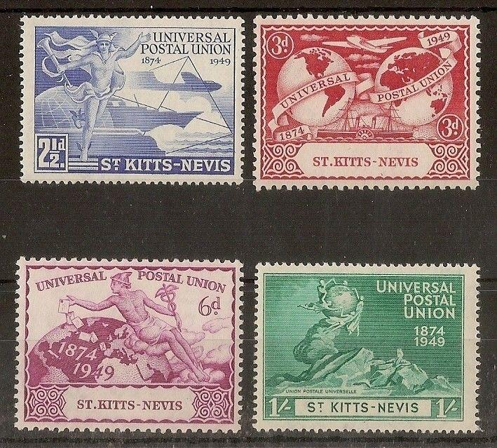 St Kitts 1949 UPU Set Mint