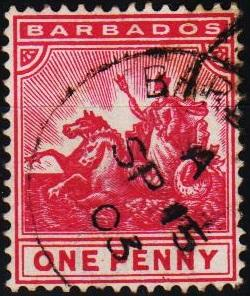 Barbados. 1892 1d S.G.107 Fine Used