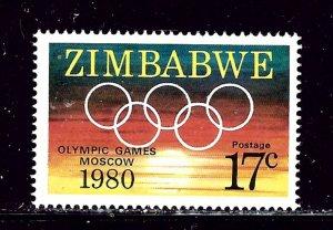 Zimbabwe 433 MNH 1980 Olympics
