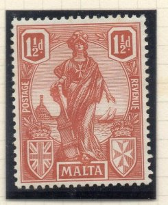 Malta 1923-24 Early Issue Fine Mint Hinged 1.5d. 321553