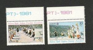 EUROPA CEPT-MNH** - SET- CYPRUS-TURKEY - 1981.