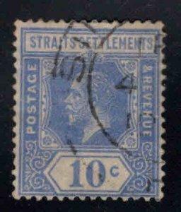 Straits Settlements Scott 190 Used 10c  Die 1, Wmk 4 stamp