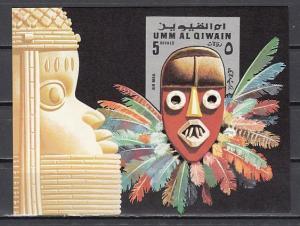 Umm Al Qiwain, Mi cat. 661, BL54. Mask s/sheet. ^
