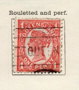 Queensland 1897 Early Issue Fine Used 1d. NW-113711