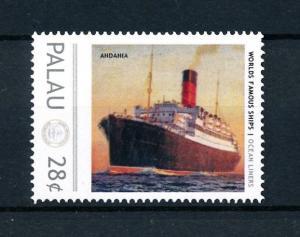 [90520] Palau  Ships Andania Ocean Liners Cunard Line  MNH