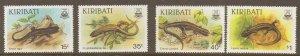 KIRIBATI SG274/7 1987 SKINKS MNH