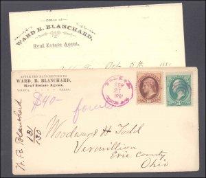 El Paso County Ysleta Registered Letter Enclosed ( Postal History ), 1881
