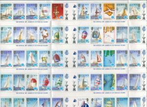 Solomon Islands 1986 SG570a America's Cup sheet of 50 MNH