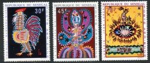 Senegal Scott C81-C83 MNHOG - 1970 Tapestries Set - SCV $5.55