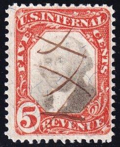 US STAMP REVENUE #R137 5c 1871-72 3rd Issue  Revenue Stamp Used
