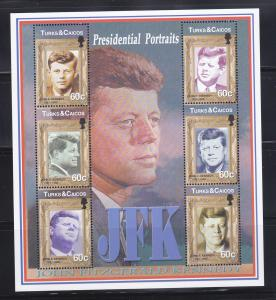 Turks and Caicos Islands 1383 MNH John F Kennedy