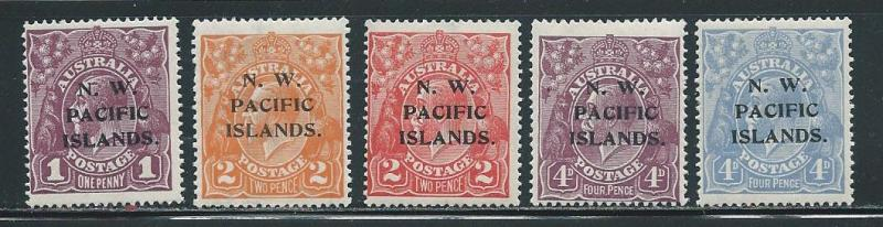 North West Pacific Islands 43-45 47-48 KGV part set MLH (z1)