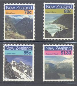 New Zealand Sc 903-6 1988 Landscapes stamp set mint NH