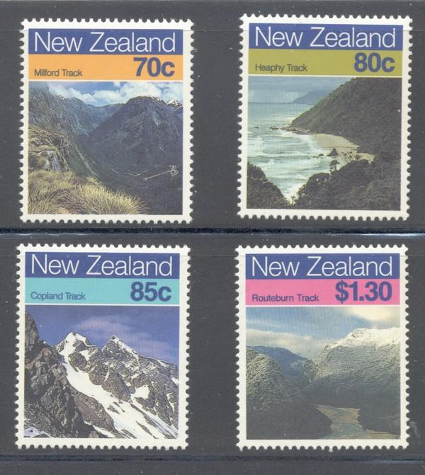 New Zealand Sc 903-6 1988 Landscapes stamp set mint NH