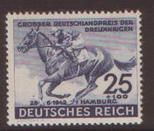 Germany 1942 Hamburg Derby SG 804 NHM