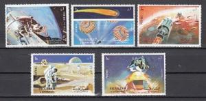 Sharjah, Mi cat. 982-986 A. Apollo 16 issue. *