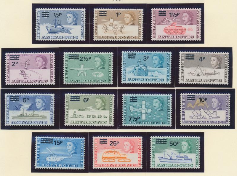 British Antarctic Territory (B.A.T.) Stamps Scott #25 To 38, Mint Never Hinge...
