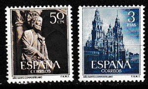 1954 Spain Scott 799-800 Holy Year of Compostela MNH