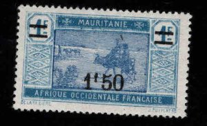 Mauritania Scott 61 MH* surcharged stamp