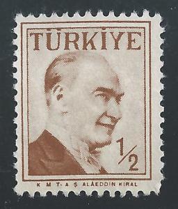Turkey #1264 1/2k Kemal Ataturk