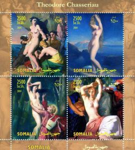 Somalia 2004 THEODORE CHASSERIAU Nudes Paintings Sheet Perforated Mint (NH)