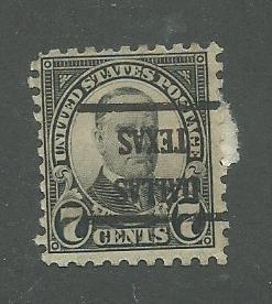 1926 USA Dallas, Texas (inverted)   Precancel on Scott Catalog Number 588
